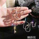 掛鏈 韓國飾品簡約裝飾項鏈配飾掛鏈女長款鑰匙毛衣鏈衣服掛件百搭掛飾 百分百