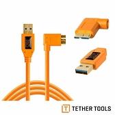 【南紡購物中心】Tether Tools CU61RT15-ORG USB3.0 轉 MicroUSB 直角 傳輸線