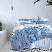【Indian】100%純天絲加大七件式床罩組-淺喜