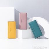 長夾卡包黃色錢包招財手機包2020新款女士長款日韓版簡約時尚搭扣女式 非凡小鋪