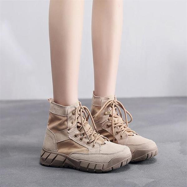 夏季登山鞋女防水防滑戶外運動鞋輕便透氣徒步鞋男女鞋防沙沙漠靴LX 童趣屋 618狂歡