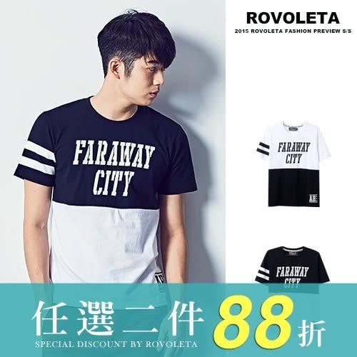 拼接潮流短T【R1R-K1801】(ROVOLETA)