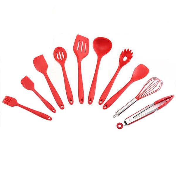 PUSH!廚房用品矽膠烹飪廚具10件套裝D152
