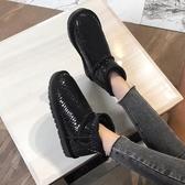 真牛皮雪地靴女短筒皮毛一體真皮防水防滑短靴子冬季棉鞋加厚保暖