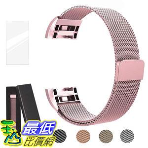 [8美國直購] 錶帶 Metal Bands Compatible for Fitbit Charge 2 Bands, Milanese Stainless Steel Mesh Magnetic