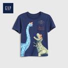 Gap 男幼童 棉質舒適圓領短袖T恤 545281-海軍藍