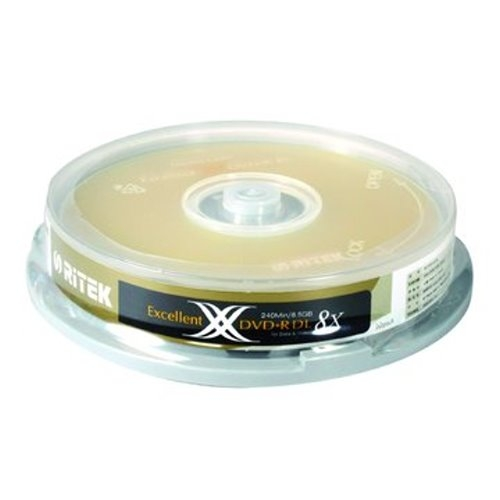 ◆加贈CD棉套+免運◆錸德 Ritek  空白光碟片 X版 DVD+R  8.5GB 8X DL 光碟燒錄片(10片布丁桶裝x10) 100P