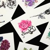 紋身貼 刺青 50張 紋身貼防水女持久韓國仿真 蝴蝶花朵性感遮疤鎖骨小紋身貼紙