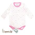 [瑕疵品專區]Organic Life長袖嬰兒連身包屁衣-粉幾何(0-12M) C-OL-CLPG01-L