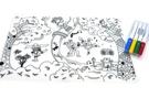 英國mombella 森林派對塗鴉矽膠餐墊 (含四色塗鴉筆)[衛立兒生活館]