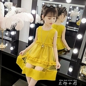 童裝女童洋裝2021新款寶寶洋裝韓版小女孩夏季洋氣兒童裙子女公主裙 米娜小鋪