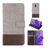 OPPO R17 Pro 十字布紋 掀蓋外磁扣手機套 手機殼 翻蓋可立式皮套 插卡 手機保護殼 布紋全包保護套
