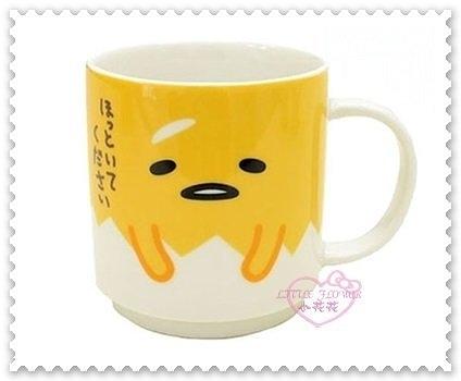 ♥小花花日本精品♥《Gudetama》蛋黃哥 馬克杯 茶杯 水杯 陶瓷馬克杯 咖啡杯 挖鼻子 11257400