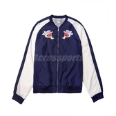 Asics 外套 WVN GPAPHIC FZ JKT 藍 白 男款 棒球外套 橫須賀 運動休閒 【PUMP306】 2191A240402
