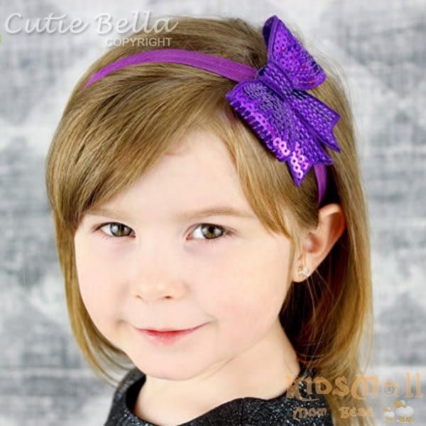 Cutie Bella亮片大蝴蝶結髮箍-Violet