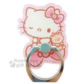 〔小禮堂〕Hello Kitty 造型壓克力手機指環架《桃粉.坐蝴蝶結.小熊.眨眼》可360度旋轉 8039331-10011