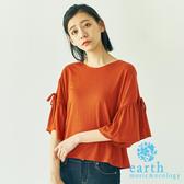 ❖ Hot item ❖ 綁帶喇叭袖剪裁上衣 - earth music&ecology