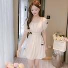 網紗洋裝 法式小個子連身裙女夏裝夏季女網紗仙女裙收腰顯瘦氣質-Ballet朵朵