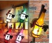 設計師美術精品館簡約歐式創意啤酒瓶壁燈臥室酒吧吧臺燈過道燈復古壁燈酒瓶燈