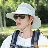 夏天遮陽帽戶外透氣防曬帽男騎車帽漁夫帽登山釣魚太陽帽男士【勇敢者戶外】