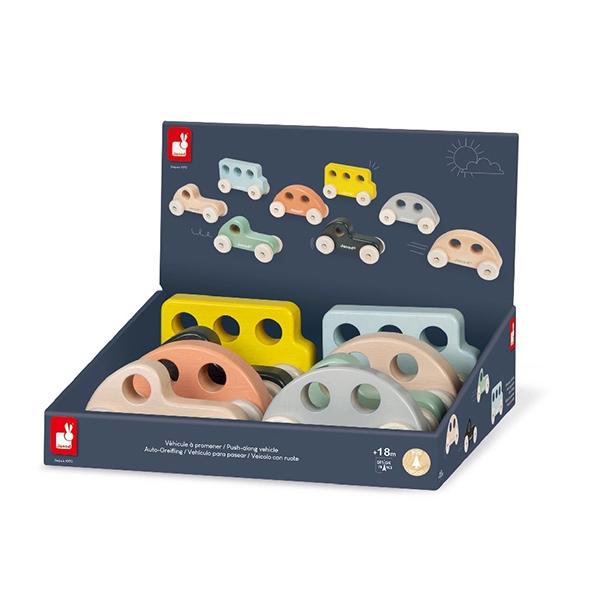 【法國Janod】北歐簡約木玩-手感玩具車 (8款可選)