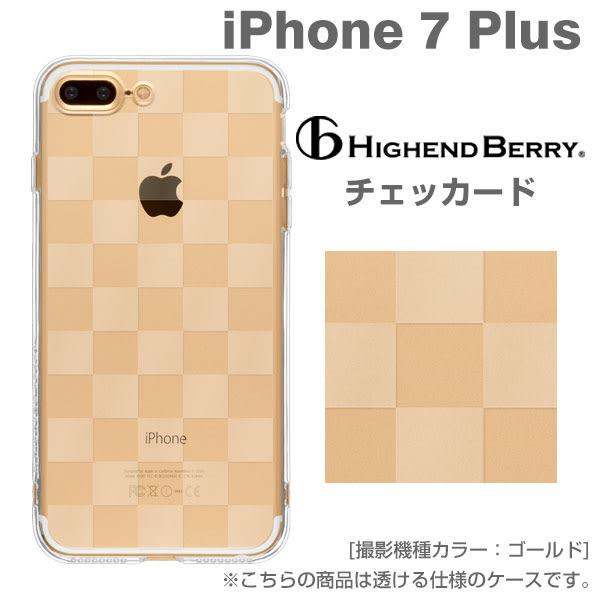 ❤Hamee 日本 Highend Berry 高品質 軟式透明TPU iPhone7 Plus 手機殼 附吊飾孔 (格紋) 558-041093
