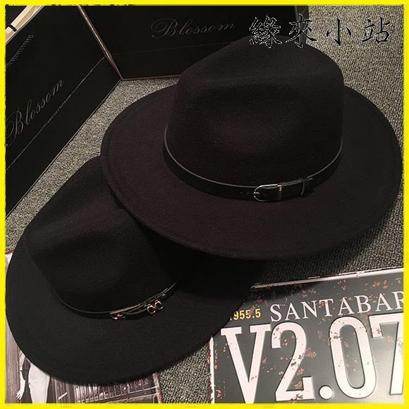 漁夫帽 帽子毛氈呢爵士帽