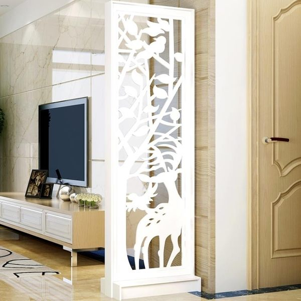屏風隔斷簡約現代雙面鏤空雕花儲物玄關櫃移動小戶型客廳門廳臥室 NMS 滿天星