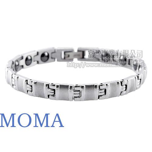 【MOMA】白鋼鍺磁手鍊-雅仕款(窄版)