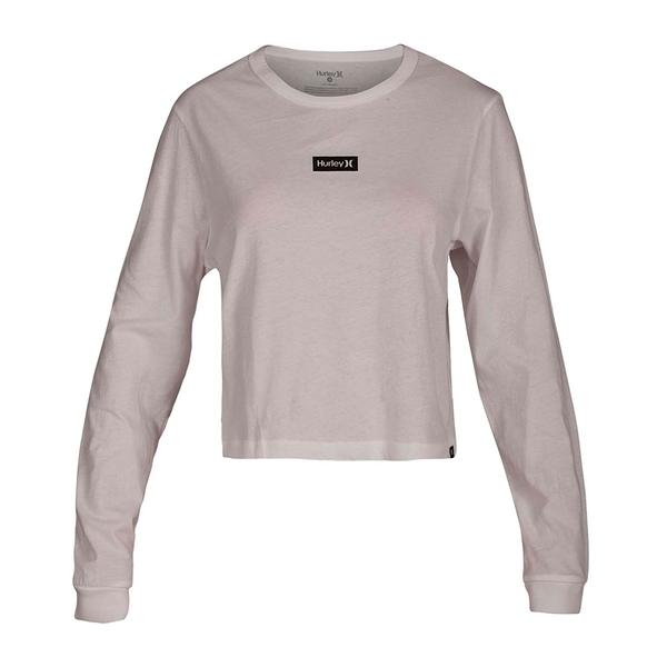 HURLEY|女 ONE & ONLY BOX PERFECT LONG SLEEVE 長袖T恤-白