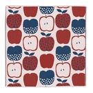【日本製】【Pocchi】今治毛巾 手帕巾 三層紗質 紅藍蘋果圖案(一組:10個) SD-4061-10 - 日本製