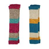 【出清】日本 stample 寬條紋襪套(粉紅/藍色)-100%日本製~2016秋冬新品
