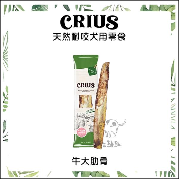 CRIUS克瑞斯[天然耐咬犬用零食,牛大肋骨,1入,紐西蘭製]