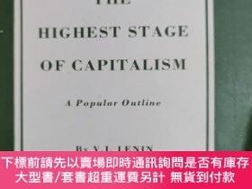 二手書博民逛書店英文原版:IMPERIALISM THE罕見HIGHEST STAGE OF CAPITALISMY3678