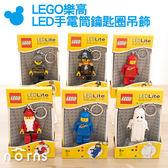 Norns 【LEGO 樂高LED手電筒鑰匙圈吊飾 經典人物】趣味小物 雜貨