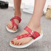 涼鞋 夏季平底涼鞋 時尚編帶夾腳人字拖 涼拖鞋《小師妹》sm1131
