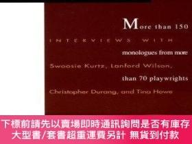 二手書博民逛書店The罕見Actors Book of Contemporary Stage Monologues: More T