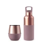 HYDY 乾燥玫瑰-蜜粉金 保溫杯瓶組 (240ml+480ml)