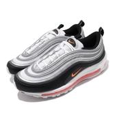 Nike 休閒鞋 Air Max 97 白銀 黑 橘 復古慢跑鞋 反光 男鞋 【ACS】 CW5419-101