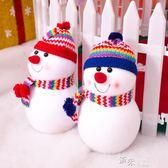 圣誕節裝飾品禮包擺件帶帽雪人紅藍兩色可選娃娃公仔 道禾生活館