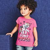 女Baby女童短袖T恤桃粉色彩紅小馬純棉T恤春夏上衣現貨  出口歐美品質