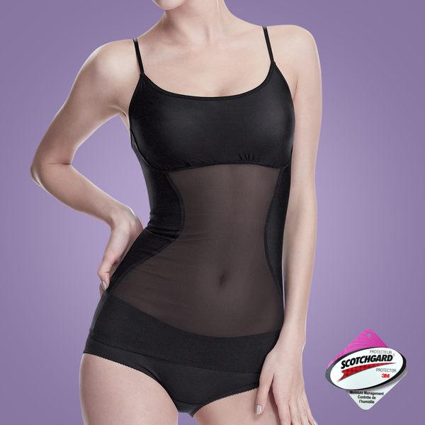 Bast 芭絲媞 塑身纖腰細肩帶背心-經典黑