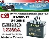 ✚久大電池❚ 神戶電池 CSB EVH12390 品質壽命超越 U1-36E12 U1-36NE TEV12360