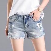 牛仔短褲高腰破洞毛邊牛仔短褲女2020年夏季新款潮薄款韓版顯瘦寬鬆熱褲伊蘿 雙11 伊蘿