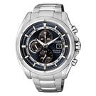 CITIZEN Eco-Drive 雙層霸氣日期顯示腕錶-藍X銀