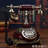 復古電話機美式仿古電話座機歐式電話機老式家用無線插卡固定轉盤復古電話 NMS蘿莉小腳丫