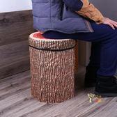 收納凳 加高水果凳加高加大號水果印花收納坐凳絨布面料舒適收納凳T 6色