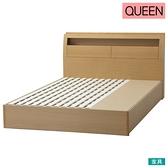 ◎雙人加大床座 床架 GRAN BOX LBR 橡木 附抽屜 NITORI宜得利家居