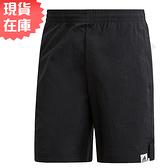 【現貨】ADIDAS Brilliant Basics 男裝 短褲 慢跑 休閒 拉鍊口袋 黑【運動世界】GD3863
