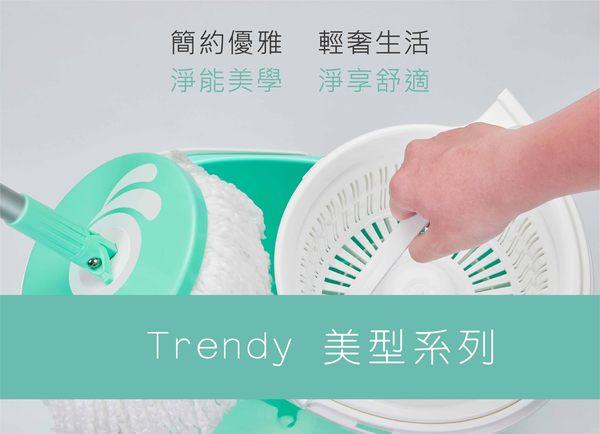 【好神拖】手壓獨立籃旋轉拖組(1桶1拖1布)